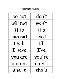 Our Suggestions   Picture for Contractions Worksheet 1st Grade