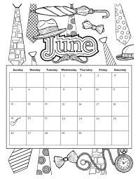 june coloring pages 2017