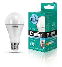 <b>Лампочка Camelion</b> LED13-A60/845/<b>E27</b>, Холодный свет, <b>E27</b>, 13 ...