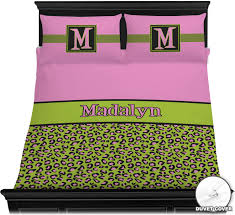 pink lime green leopard duvet cover set personalized satin bed sheets queen be bedding sets quilt