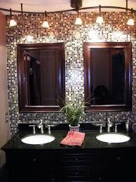 mosaic bathroom track lighting ideas