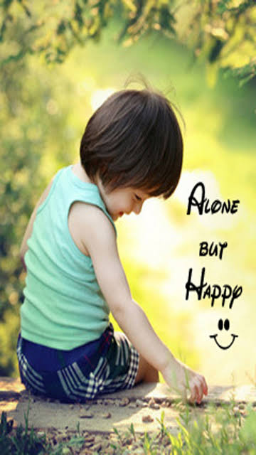 alone but happy status hd