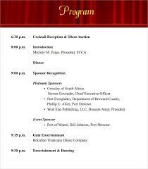 Program Of Events Sample 38 Event Program Templates Pdf Doc