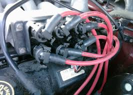 all about mustang spark plugs and ignition components americanmuscle msd 8 5mm spark plug wire set on a 1999 2000 v6 mustang
