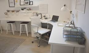 Image White Glass Home Office Design Home Desk Home Office Desks Corner Office Desk Ikea White Pinterest The Reveal Home Office Design Home Home Office Design Ikea