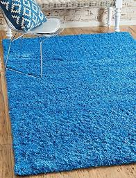 unique loom solid collection periwinkle blue 5 x 8 area rug 5 x