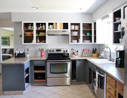 White Kitchen Cabinet Makeover Grey And White Kitchen Makeover With Wonderful Cabinets Trends