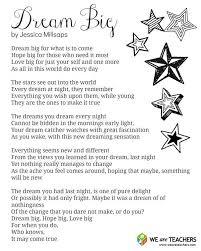 Dream Catcher Poem Classy Printable Dream Big Poem WeAreTeachers