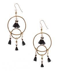 new chandelier pearl gold hematite black tassel earrings