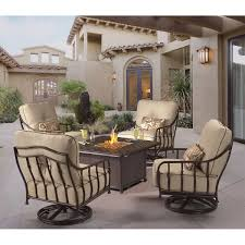5 Swing Fire Pit Fire Pit Patio Sets Costco Fire Pits Chat Sets Costco Madison 5