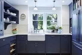 Fixer Upper craftsman blue kitchen cabinets