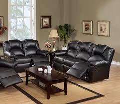 black leather reclining sofa loveseat set