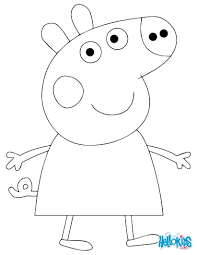 Peppa Pig Coloring Page Anna S 5th Bday Peppa Pig Pinterest