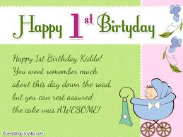 First Birthday Quotes Beauteous First Birthday Card Message 48st Birthday Wishes First Birthday