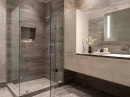Bathroom Tile Wallpaper Modern Bathroom Gray White White Floating Vanity Wallpaper