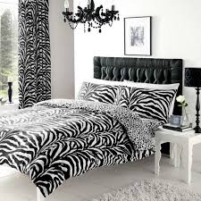 ideas collection zebra skin print duvet quilt cover set black white king size with cute