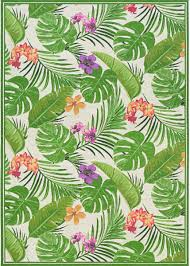 Couristan Dolce Flowering Fern Ivory  Hunter Green 172738 Area Rug 172738