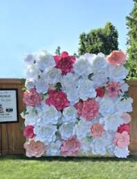 Paper Flower Background Details About Giant Paper Flowers Wall Background Any Colors