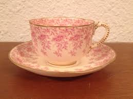 Decorating With Teacups And Saucers Antique 100 Royal Worcester Cup Saucer w Red Pink Floral 66