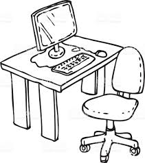 office desk clipart black and white. Perfect And Throughout Office Desk Clipart Black And White