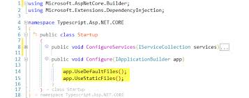 Configuring Typescript for ASP.NET CORE Apps
