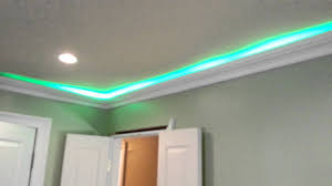 How To Install Rope Lighting Behind Crown Molding Led Smd Hit Lights Behind Crown Molding Test Fit Youtube