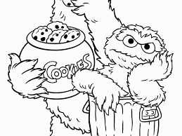Cookie Monster Coloring Book New Stunning Cookie Monster Col For