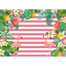 Allenjoy photography backdrop <b>tropical</b> flamingos pink stripes flower ...