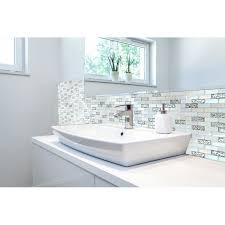 tile backsplash bathroom shower. Unique Backsplash TST 1x2 Super White Iridescent Subway Brick Glass Mosaic Tile For Kitchen  Backsplash Bath Shower Wall Intended Bathroom A