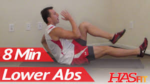 8 minutes lower ab workout hasfit s lower abdominal exercises work out lower abs you