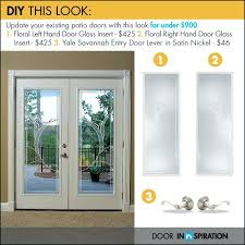 stylish and peaceful patio door glass insert thefunkypixel com inserts french replacement
