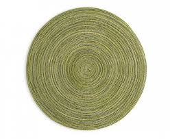 lima round placemat green and gold