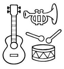 Muziekinstrumenten Kleurplaat Google Zoeken Kleurplaten Muziek