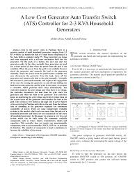 pdf a low cost generator auto transfer switch ats controller for 2 3 kva household generators