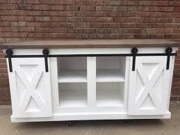 ana white sliding barn door console table diy projects barn door console table