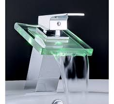 modern single sink bathroom vanities. Modern Single Handle Waterfall Bathroom Vanity Vessel Sink LED Faucet Vanities