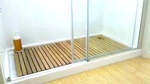teak shower floor insert inserts bath mat in ca customer custom