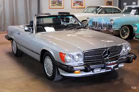 Black and grey mercedes sl that has that classic design. 1987 Mercedes Benz 560 Class 560sl