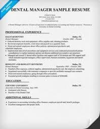 Sample Zoning Supervisor Resume Dental Manager Resume Sample Dentist Health