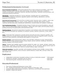 Construction Consultant Resume