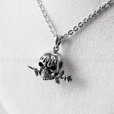 rose skull pendant tango rose skull sterling silver