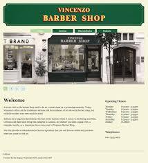 Barber Shop Website Vincenzo Barber Shop Website On Behance