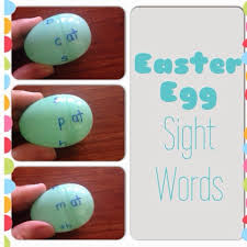 word easter egg easter egg sight words