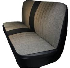 1981 1987 chevy gmc pickup tweed designer insert seat cover with center bolster open back