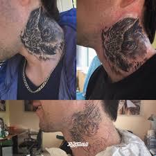 шея татуировки в калининграде Rustattooru