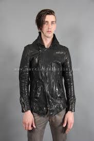 incarnation diagonal zipper leather jacket
