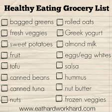 Typical Grocery List Eat Hard Work Hard Healthy Eating Grocery List