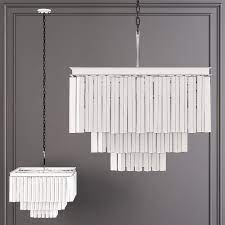 1920s odeon clear glass fringe square 3