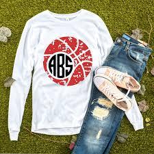 Basketball Cheer Shirt Designs Basketball Monogram Svg Grunge Basketball Svg Basketball