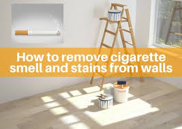 remove cigarette smell and stains